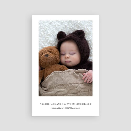 Geburtskarten für Jungen Mintgrün pas cher