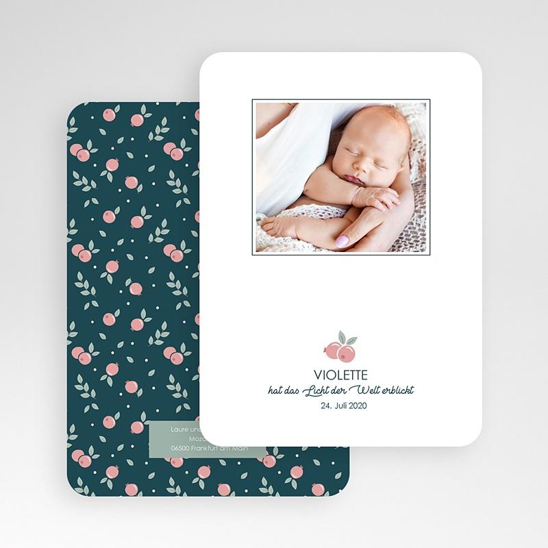 Geburtskarten mit Fotos Rote Beere gratuit