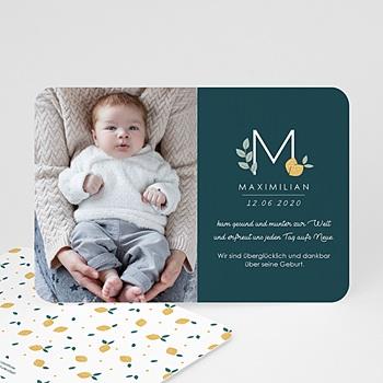 Geburtskarten für Jungen - Waldgrün - 0