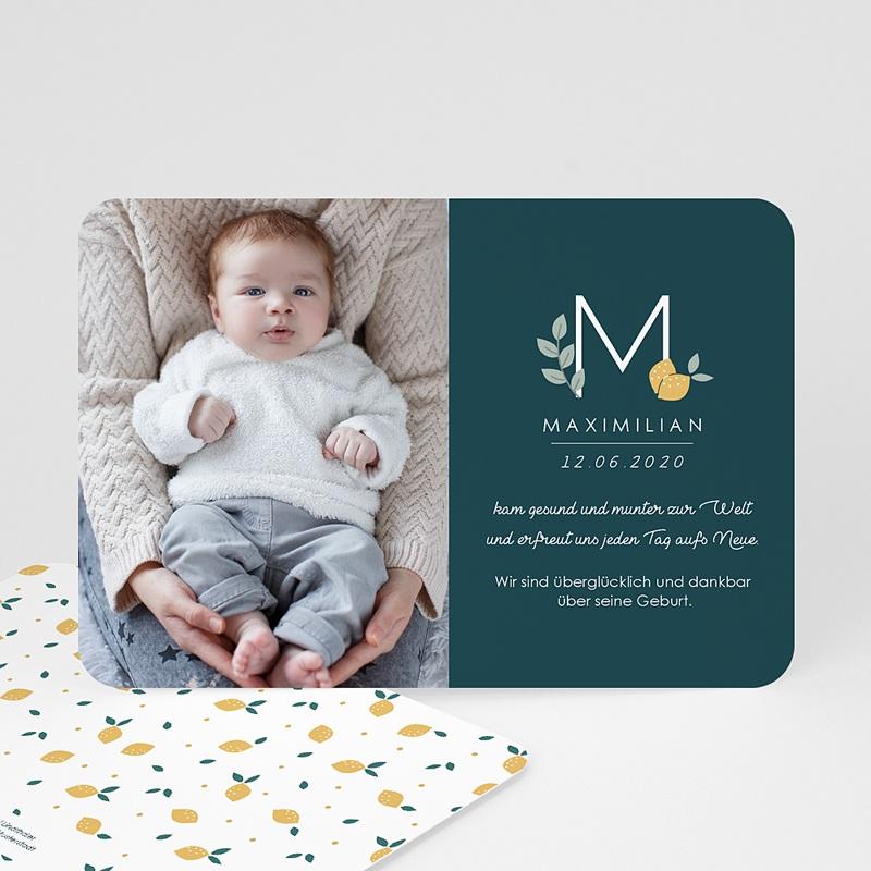 Geburtskarten für Jungen Waldgrün