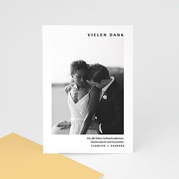 Dankeskarten Hochzeit mit Foto - Amber - 0