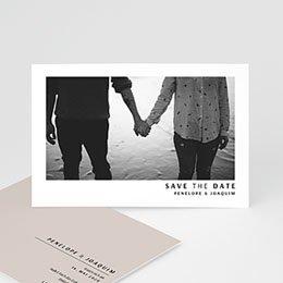 Save the date Hochzeit Mokka Creme
