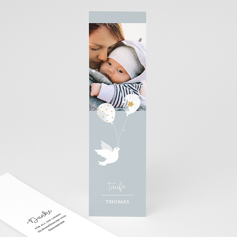 Dankeskarten Taufe Jungen - Sanftheit 66907 thumb