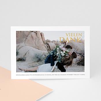 Dankeskarten Hochzeit mit Foto - Sleekly Simple - 0