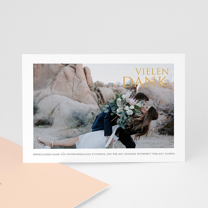 Dankeskarten Hochzeit mit Foto Sleekly Simple