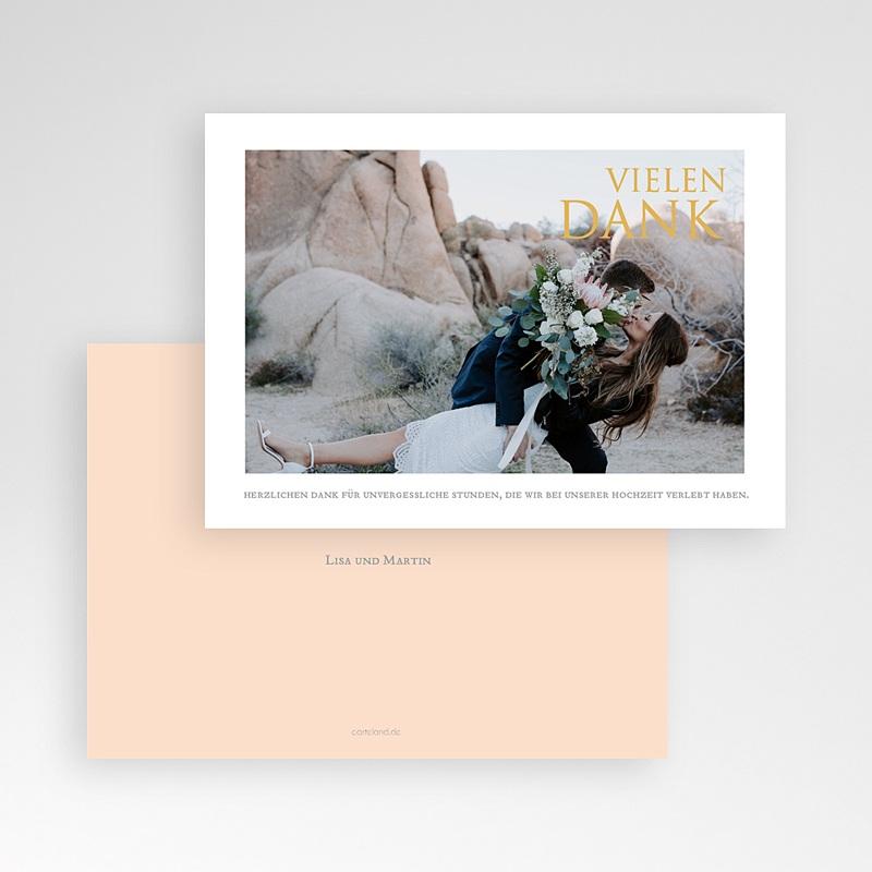 Dankeskarten Hochzeit mit Foto Sleekly Simple pas cher