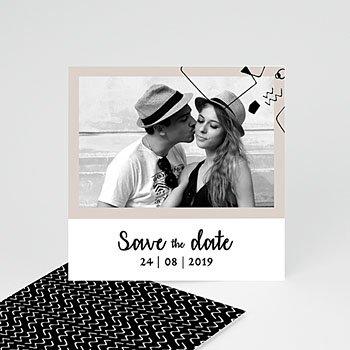 Save The Date  Abstrakte Formen