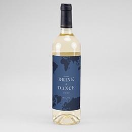 Flaschenetiketten Wein Boarding Pass