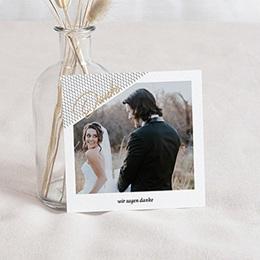 Danksagungskarten Hochzeit Mint & Gold