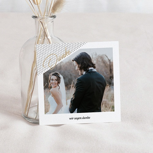 Kreative Dankeskarten Hochzeit  - Mint & Gold 67119 thumb