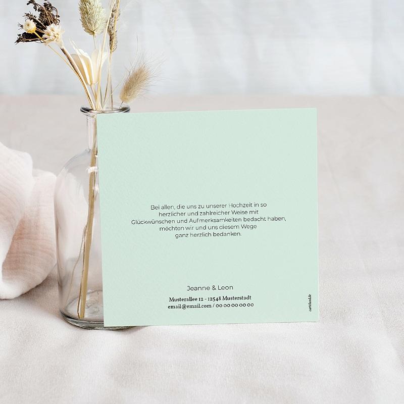 Kreative Dankeskarten Hochzeit  - Mint & Gold 67120 thumb