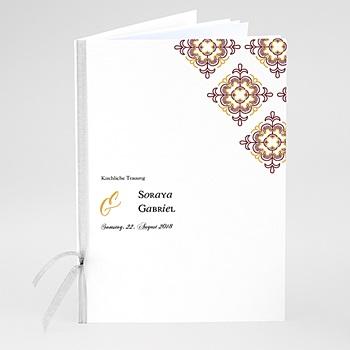 Kirchenheft zur Hochzeit individuell gestalten - Ottoman Rot - 0