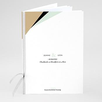 Kirchenheft zur Hochzeit individuell gestalten - Mint & Gold - 0