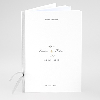 Kirchenheft zur Hochzeit individuell gestalten - Aquarell Natur - 0