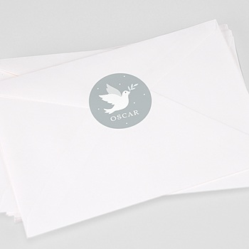 Aufkleber Taufe - Kleine Taube - 0