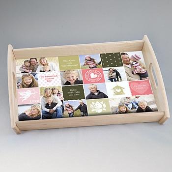 Foto-Tablett  Collage zum Valentinstag