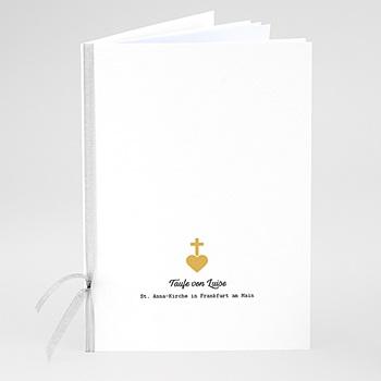 Kirchenhefte zur Taufe - Kreuz und Gold - 0