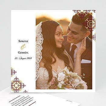 Dankeskarten Hochzeit mit Foto - Ottoman Rot - 0