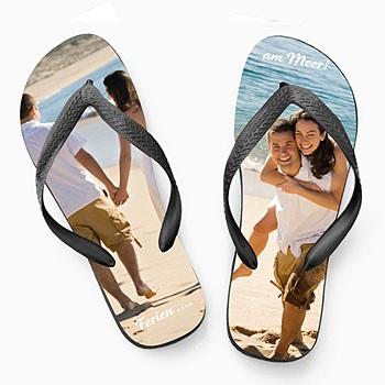 Flip-Flop mit Foto Strand