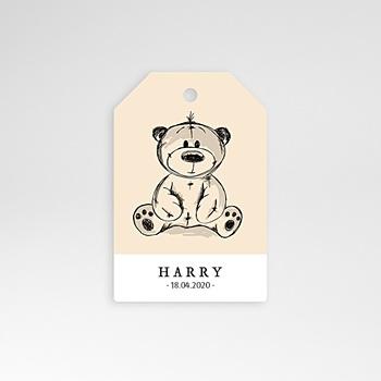Anhänger Geburt - Retro Teddybär - 0