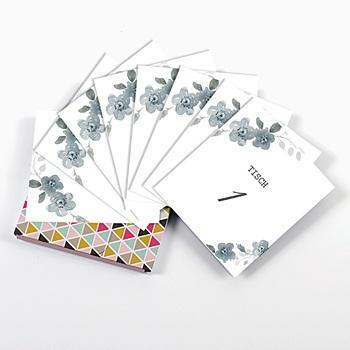 Tischnummer - Botanisches Blau - 0