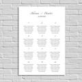 Sitzplan Hochzeit Minimal Script