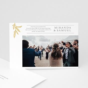 Stilvolle Danksagung Hochzeit Minimalist Botanik