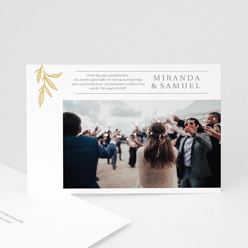 Elegante Dankeskarten Hochzeit Minimalist Botanik