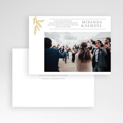 Elegante Dankeskarten Hochzeit Minimalist Botanik pas cher