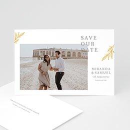 Save the date Hochzeit Minimalist Botanik