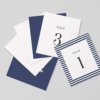 Tischnummer - Streifen - 0