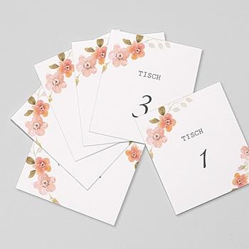 Tischnummer - Wildrose - 0
