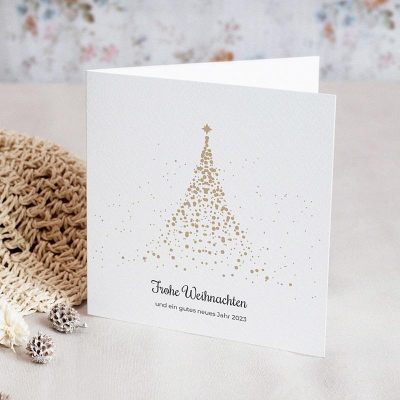 Geschäftliche Weihnachtskarten Golden Tree