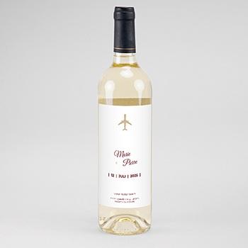 Flaschenetiketten Wein Wedding Pass
