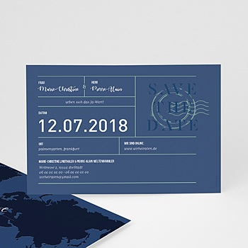Save The Date  - Blue Wedding Pass - 0