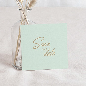 Save The Date  - Mint & Gold - 0