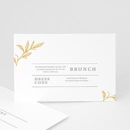 Einlegekarten Hochzeit Minimalist Botanik