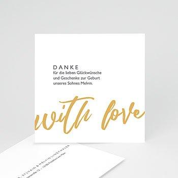 Dankeskarten Geburt Jungen - With Love Only - 0