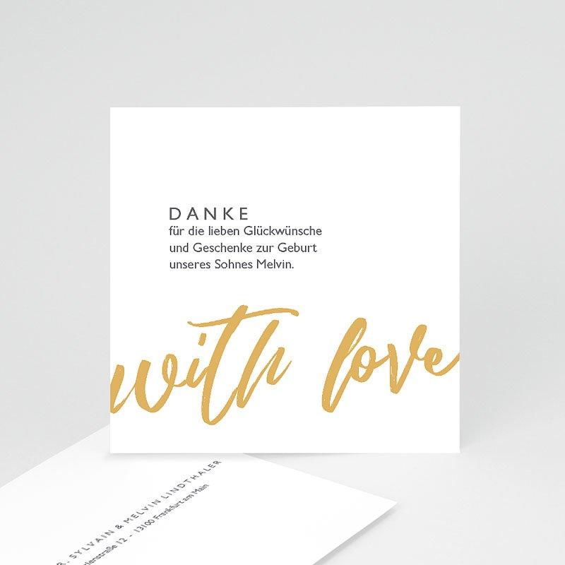 Dankeskarten Geburt Jungen With Love Only