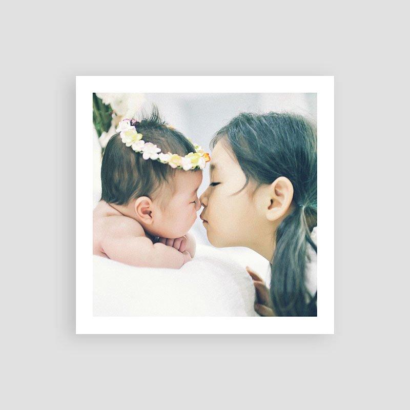 Dankeskarten Geburt Mädchen Mamor pas cher