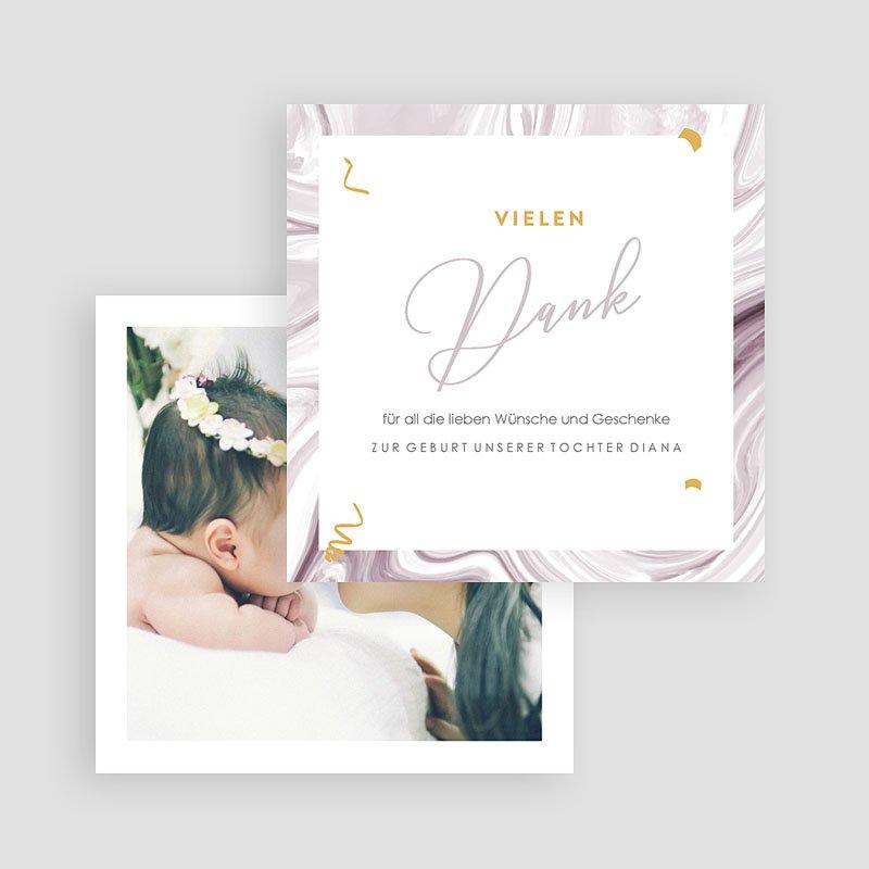 Dankeskarten Geburt Mädchen Mamor gratuit