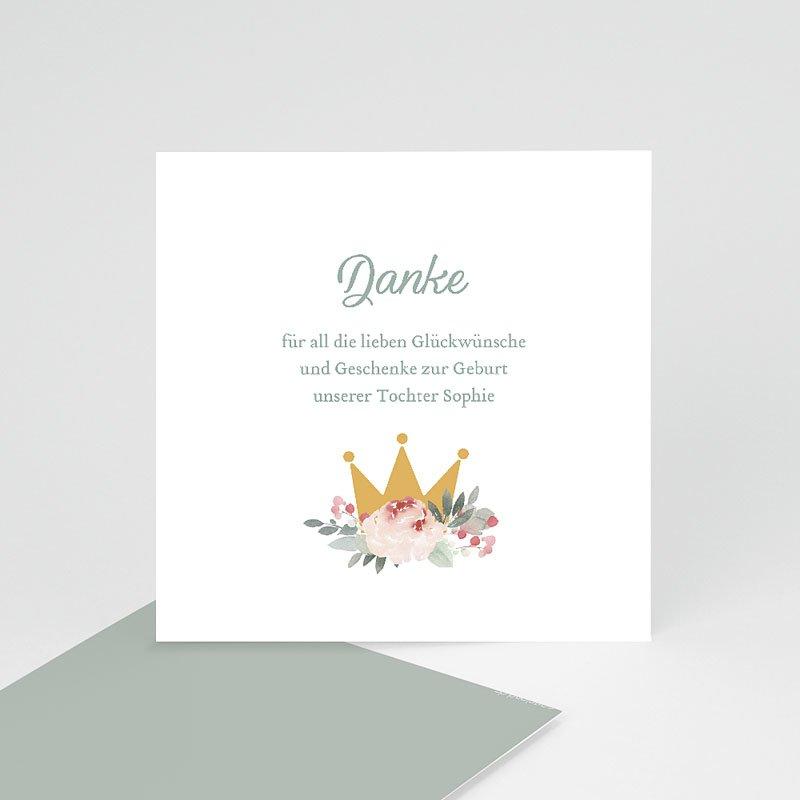 Dankeskarten Geburt Mädchen - Little Princess 68026 thumb