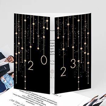 Weihnachtskarten - Leuchtguirlanden - 0