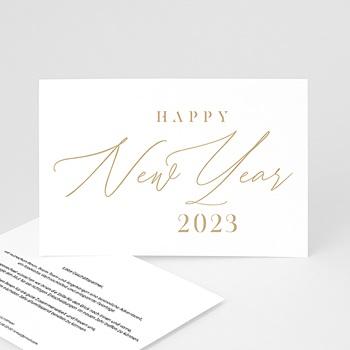 Weihnachtskarten - Calligraphic Year - 0