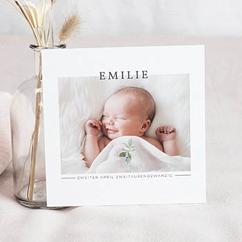 Foto-Babykarten gestalten - Momentaufnahme Baby - 0