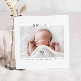 Foto-Babykarten gestalten Momentaufnahme Baby