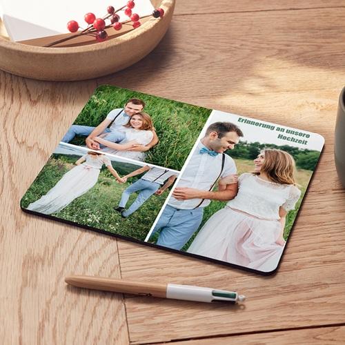 Personalisierte Foto-Mousepad Herz mit Spitze