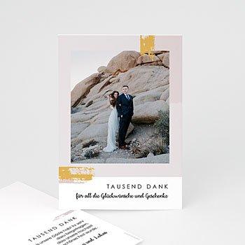 Dankeskarten Hochzeit mit Foto - Rose Quarz - 0