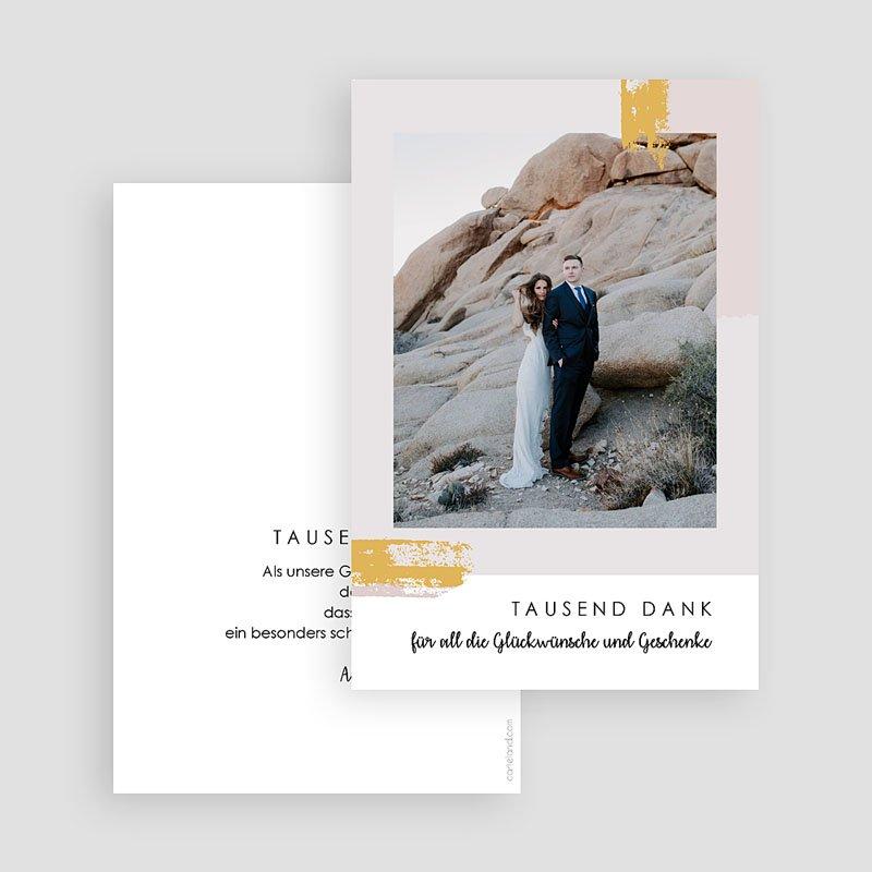 Dankeskarten Hochzeit mit Foto - Rose Quarz 68205 thumb