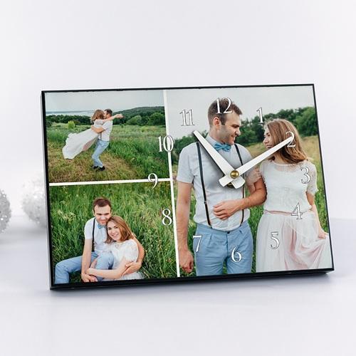 Fotouhr  20 x 14 cm - Fotouhr 3 Felder 6821